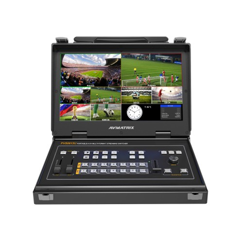 PVS0613U - Portable 6CH SDI/HDMI Multi-format Streaming Video Switcher with USB Capture