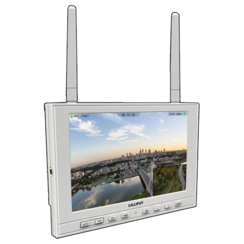 """*CLEARANCE* Lilliput 339/DW (Black Version Only Available) - 7"""" IPS FPV monitor with auto search dual receiver"""