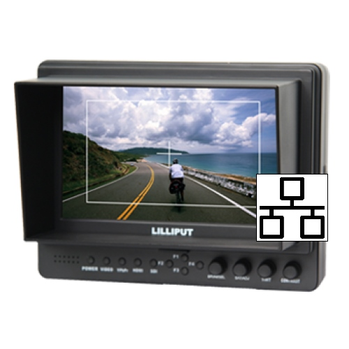 "Lilliput 665-IP 7"" IP Monitor  with RJ45 connection"