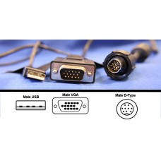 Lilliput VGA - DIN (Male) Touchscreen Cable