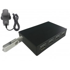 USB 4-Output HDMI Plug and Play Looping Media Player for Digital Signage