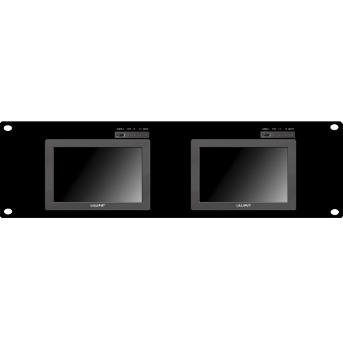"Lilliput RM-Q7 - 19"" 4U Rackmount 7"" 1920x1200 SDI monitor system with HDMI/SDI cross conversion"