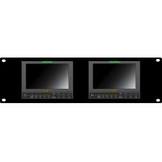 "Lilliput RM-662/S - 4U Rackmount Dual Panel 7"" SDI field monitor"