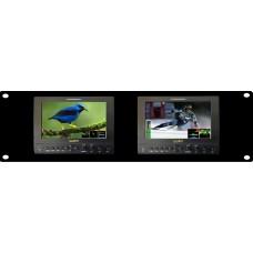 "Lilliput RM-663/S - 4U Rackmount Dual Panel 7"" SDI field monitor"