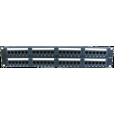 "19"" Rackmount 2U 48 Port Patch Panel CAT6"