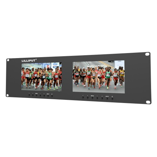 "Lilliput RM-7024 - 19"" 3U Dual VGA Rackmount Monitor System"