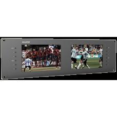 "Lilliput RM-7028/S - 19"" 3U Rackmount Dual Panel 3G-SDI / HDMI Monitor system"