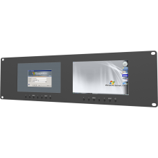 Lilliput RM-7024 - 3U Dual VGA Rackmount Monitors