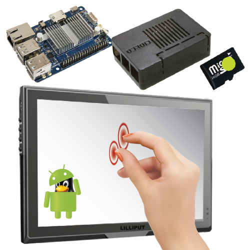 """Odroid C1+ Android 10"""" Touchscreen Bundle"""