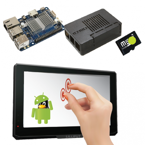 "7"" Touchscreen Bundle for Odroid C1+ (Android)"