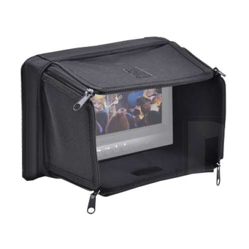 "7"" Carry case with integrated sunshade"