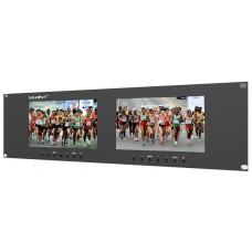 "Lilliput RM-7025 - 19"" 3U Dual 7"" Panel VGA Rackmount Monitor System"