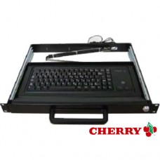 "19"" 1U Rackmount Cherry Keyboard Drawer - with Trackball"